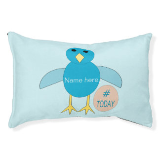 Custom Blue Birthday Boy Chick Dog Bed