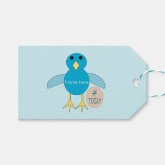 Custom Blue Birthday Boy Chick Gift Tags