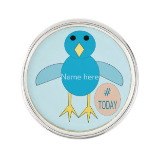 Custom Blue Birthday Boy Chick Lapel Pin