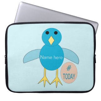Custom Blue Birthday Boy Chick Laptop Bag