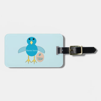 Custom Blue Birthday Boy Chick Luggage Tag
