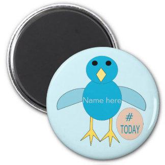 Custom Blue Birthday Boy Chick Magnet