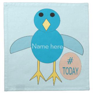 Custom Blue Birthday Boy Chick Napkins