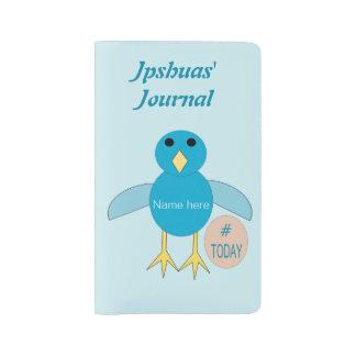 Custom Blue Birthday Boy Chick Notebook cover