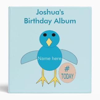 Custom Blue Birthday Boy Chick Photograph Album Binders