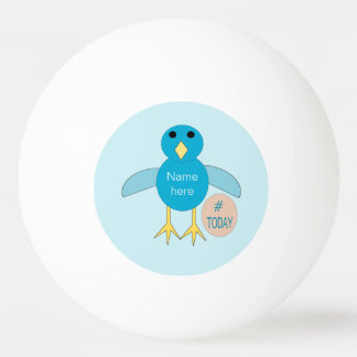Custom Blue Birthday Boy Chick Ping Pong Ball