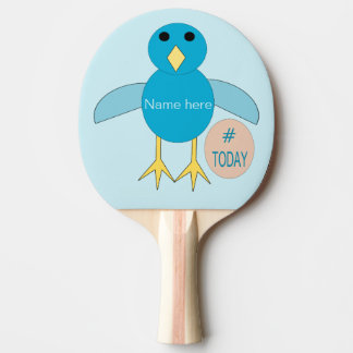 Custom Blue Birthday Boy Chick Ping Pong Paddle
