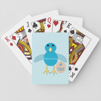 Custom Blue Birthday Boy Chick Playing cards