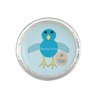 Custom Blue Birthday Boy Chick Ring