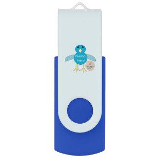 Custom Blue Birthday Boy Chick USB Drive