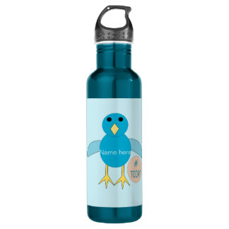 Custom Blue Birthday Boy Chick Water Bottle