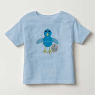 Custom Blue Birthday Boyl Chick T Shirt