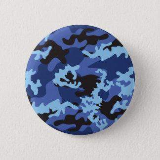 Custom Blue Camo Button