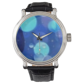 Custom blue clock burble watch