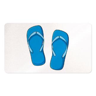 Custom Blue Flip Flops Sandals Greeting Cards Pins Business Card Template