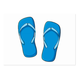 Custom Blue Flip Flops Sandals Invitation Postage Business Card Templates