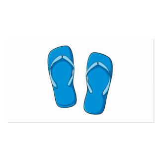 Custom Blue Flip Flops Sandals Invitation Postage Business Cards