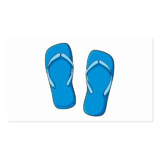 Custom Blue Flip Flops Sandals Invitation Postage Business Card Template