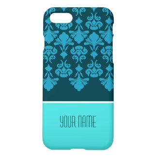 Custom Blue Navy Flower Pattern iPhone 8/7 Case