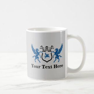 Custom Blue Pegasus Coffee Mug