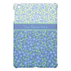 Custom Blue Periwinkles Ditsy Floral Patterns iPad Mini Cover