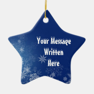 Custom Blue Snow Star Ornament