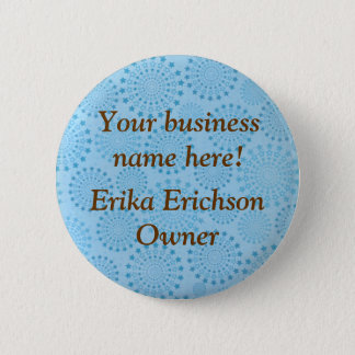 Custom Blue Stars in a Circle Name Tag Button Pin