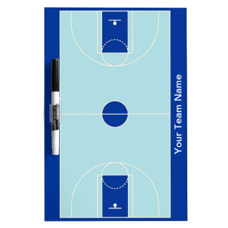 Custom blues basketball dry erase board