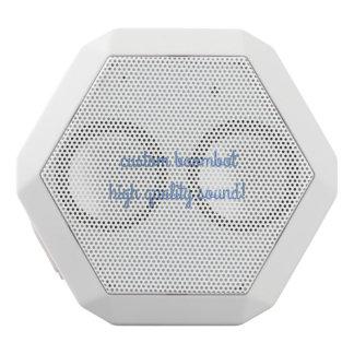 custom boombot rex white white bluetooth speaker