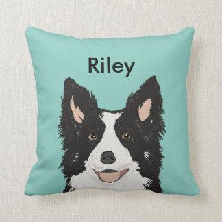 Custom Border Collie Pillow Custom Name