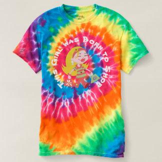 Custom Born to Shop Cute Shopping Diva Tie Dye T-shirt
