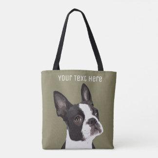 Custom Boston Terrier Tote Bag
