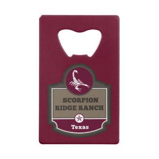 Custom bottle opener credit card bottle opener