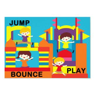"Custom Bounce House Birthday 5x7"" Invitation"