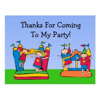 Custom Bounce House Birthday Thank You Postcard
