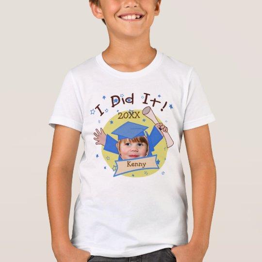 Custom Boy Graduate Graduation T-Shirt