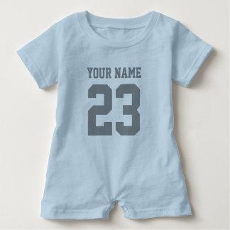 Custom boys sports football jersey baby romper
