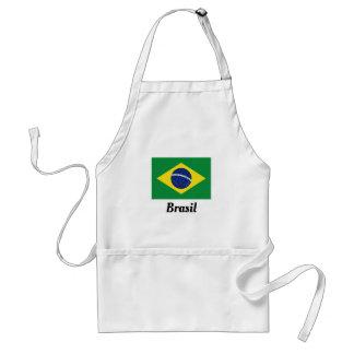 Custom Brazilian flag bbq kitchen cooking aprons