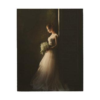 Custom Bridal Portrait Wood Wall Art