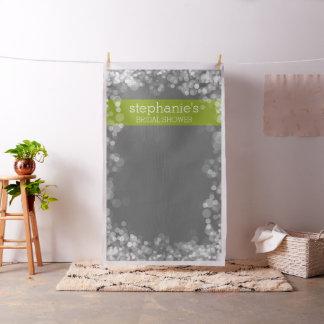 Custom Bridal Shower Photo Backdrop Charcoal Bokeh Fabric