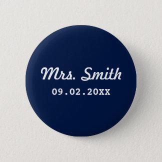 Custom Bridal Wedding 2 Inch Round Button