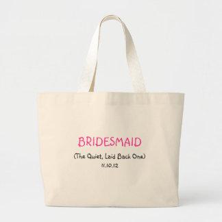 Custom Bridesmaid Large Tote Bag