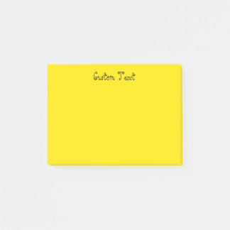 Custom Bright Yellow Post-it Notes