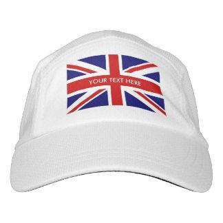 Custom British pride Union Jack flag sports hats Headsweats Hat