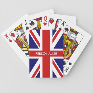 Custom British Union Jack flag playing cards