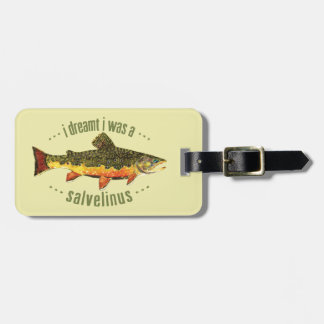 Custom Brook Trout Fishing Luggage Tag