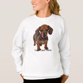Custom Brown Dachshund Puppy Sweatshirt