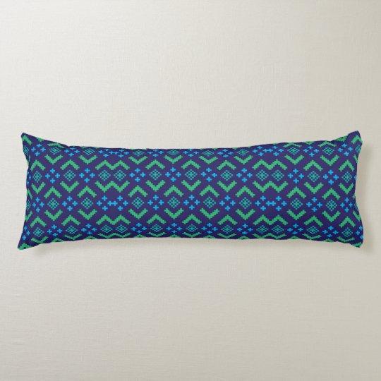 Custom Brushed Body Pillow Green/Teal Reversible