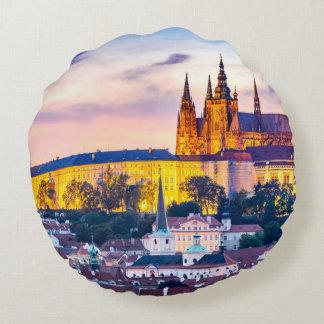 Custom Brushed Polyester Round Pillow Prague