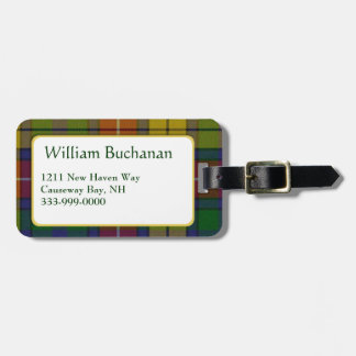 Custom Buchanan Tartan Plaid Luggage Tag